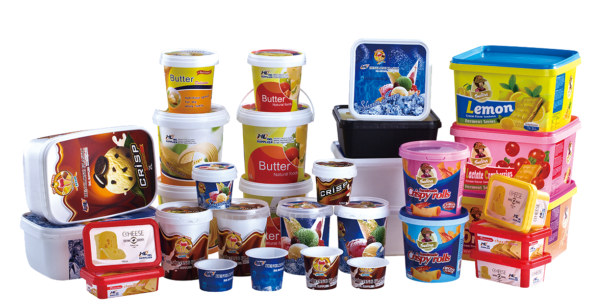 Iml Plastic Packaging Manufacturer With Ice Cream