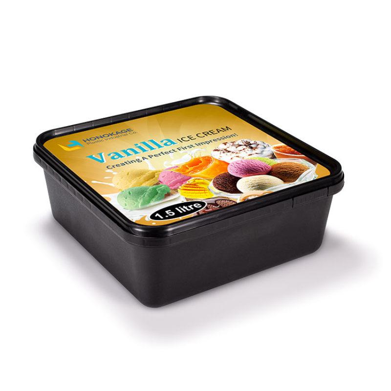 1500ml ice cream box . Square - HONOKAGE   Honokage IML
